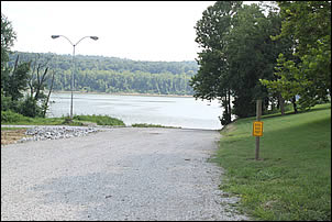 boat ramp at mile 664.5 on the Ohio River