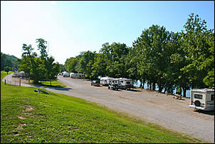 RV camping along the Ohio River