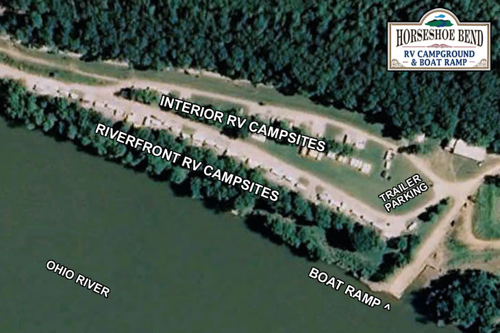 map of campground, cabin & boat ramp facilities