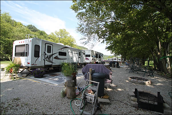 RV campsites overlooking the Ohio River