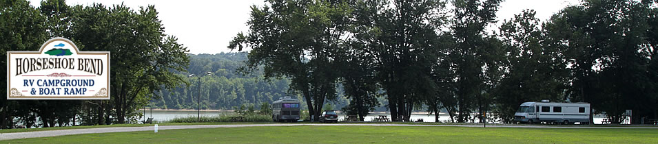 Horseshoe Bend RV Campground, Cabins & Boat Ramp on the Ohio River at Leavenworth, Indiana